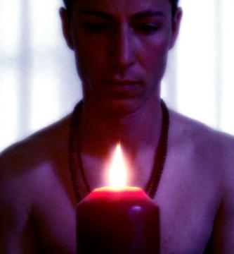 meditating on a flame
